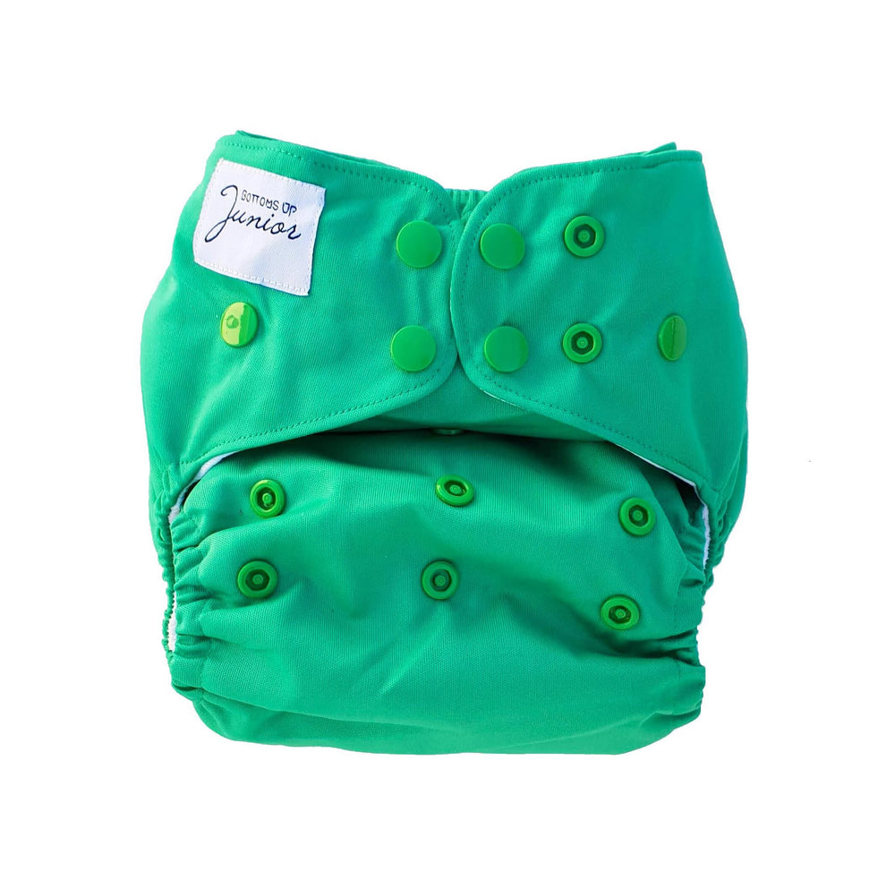 Bottoms Up Junior Forest Green Cloth Nappy