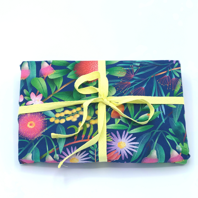 Hello Snowglobe Reusable Fabric Gift Wrap - Home Among the Gumtrees