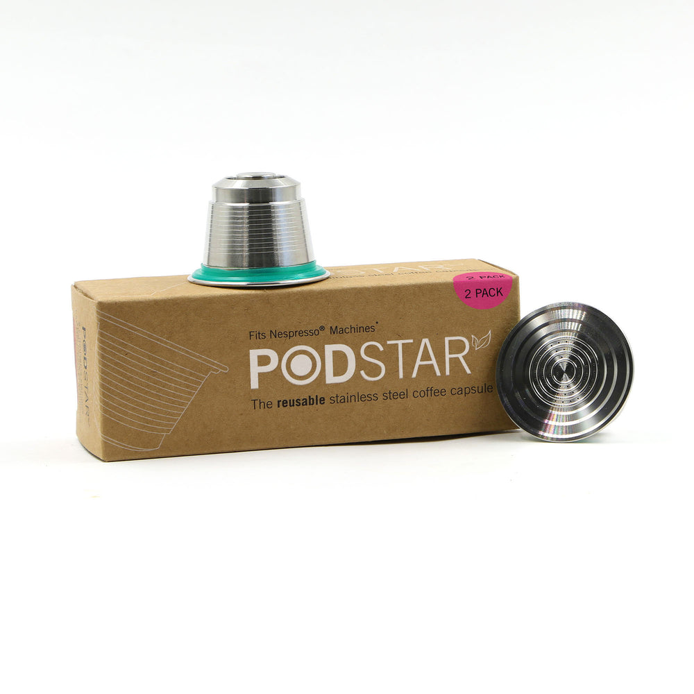 Pod Star Reusable Capsules for Nespresso (Double)