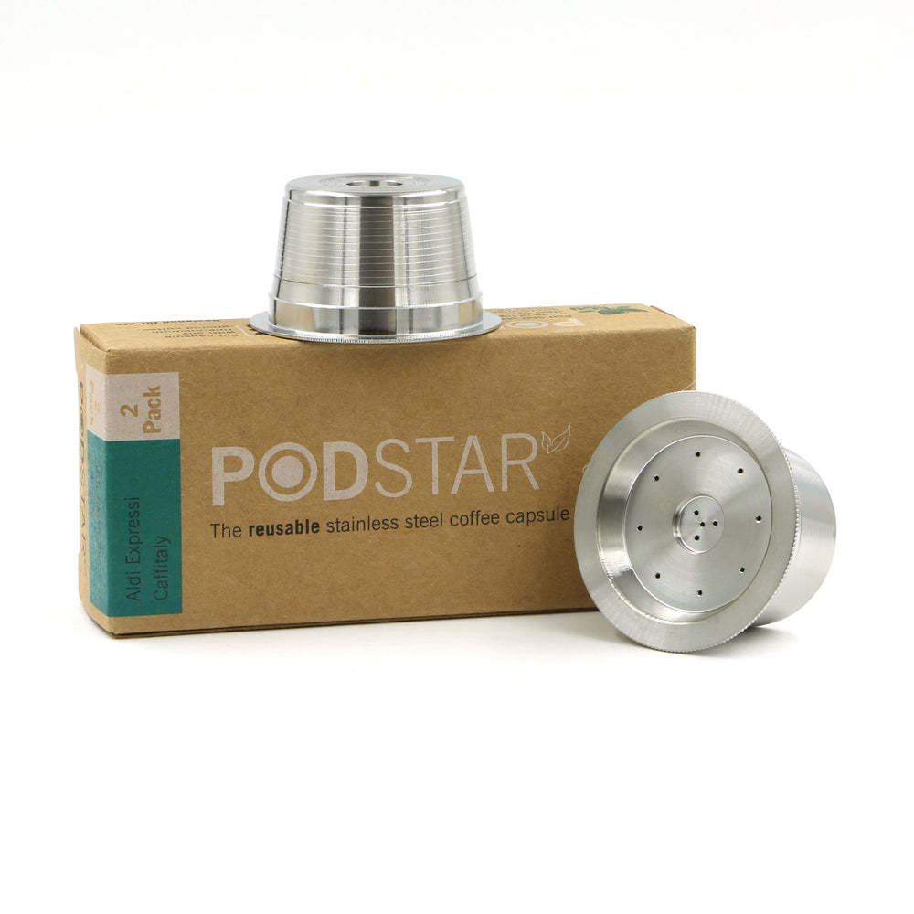 Pod Star Reusable Capsules for Aldi K-fee, Caffitaly & Verismo (Double)