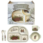 Poss & Wom 5 Piece Bamboo Dinner Set (Once a Wommie Wombat)