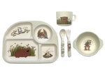 5 Piece Bamboo Dinner Set (One a Wombie Wombat)