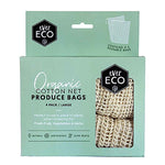 Ever Eco Reusable Organic Cotton Net Produce Bags (4 Pack)