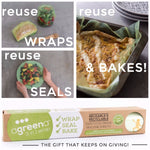 Agreena 3-in-1 Reusable Silicone Wraps
