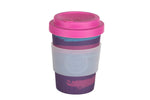 Perky By Nature Reusable Bamboo Fibre Coffee Cup - Purple/Pink - 12oz