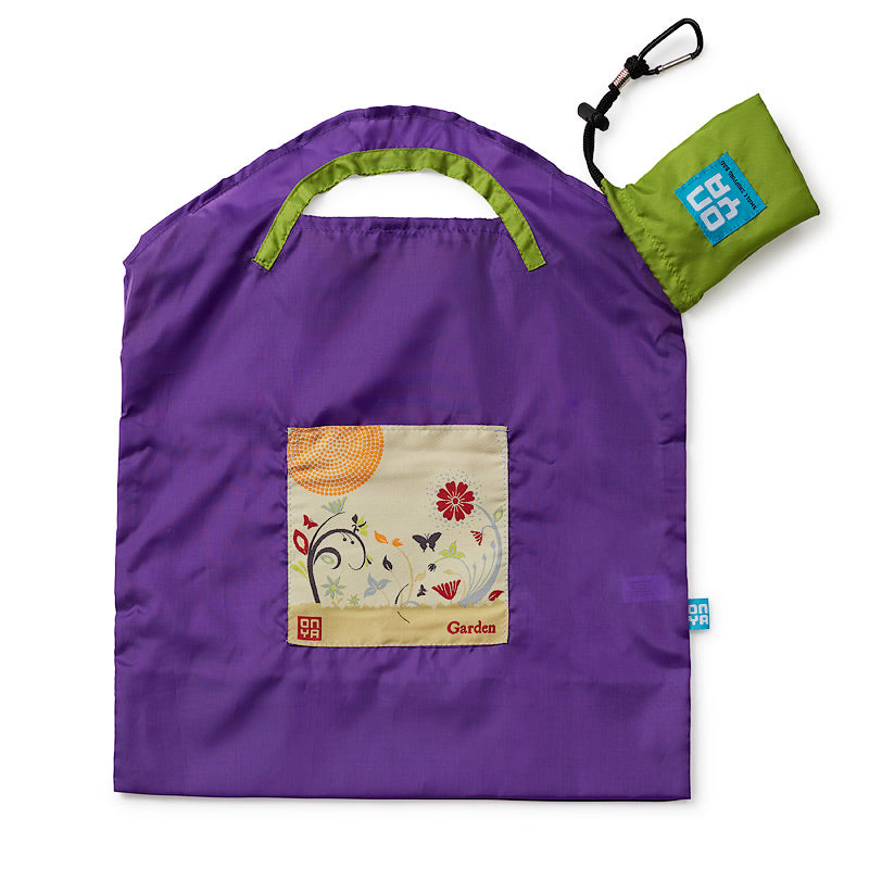 Onya Reusable Shopping Bags (Small) - Purple Garden