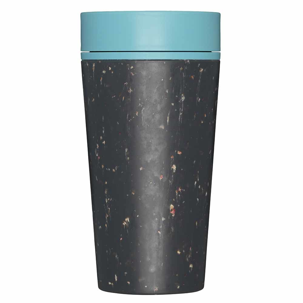 rCup Reusable Coffee Cup - Black/Teal - 12oz