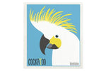 Retro Kitchen Dish Cloth - Cockatoo