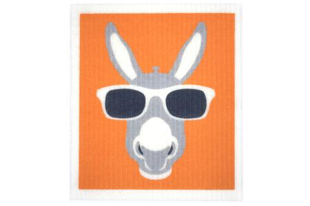 Retro Kitchen Dish Cloth - Donkey