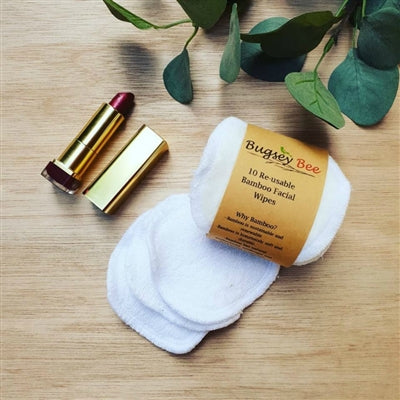 Bugsey Bee Reusable Bamboo Facial Wipes