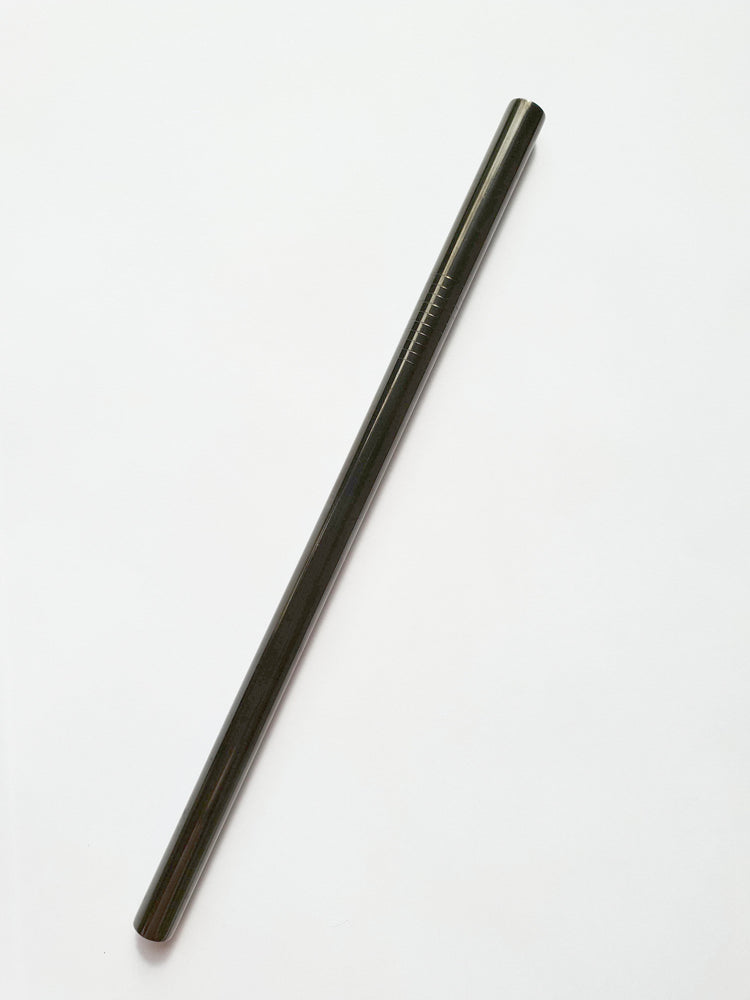 Earth Wrapping Stainless Steel Smoothie Straw - Black