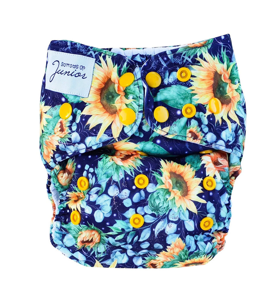 Bottoms Up Junior Midnight Bloom Cloth Nappy