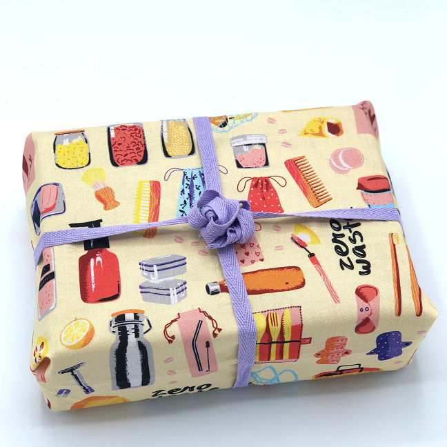Hello Snowglobe Reusable Fabric Gift Wrap - Zero Hero