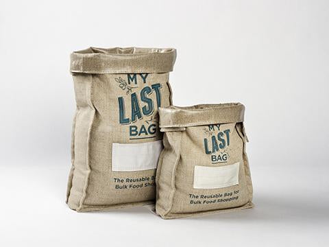 My Last Bag Reusable Bulk Food Bag Large and Small