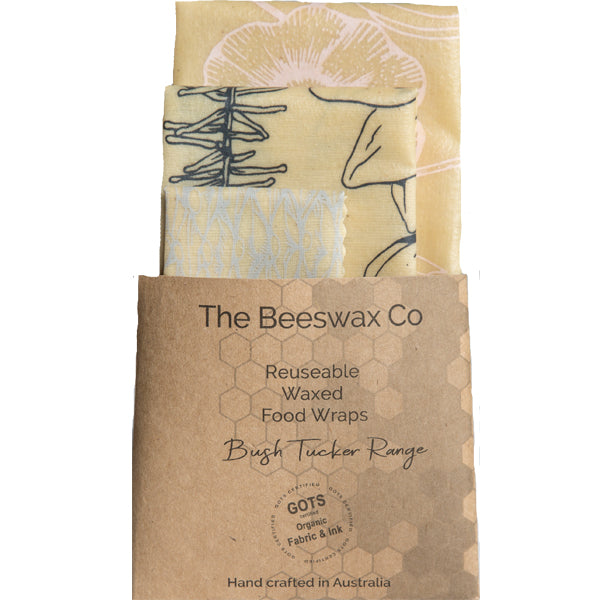 The Beeswax Co Reusable Beeswax Food Wraps - Bush Tucker