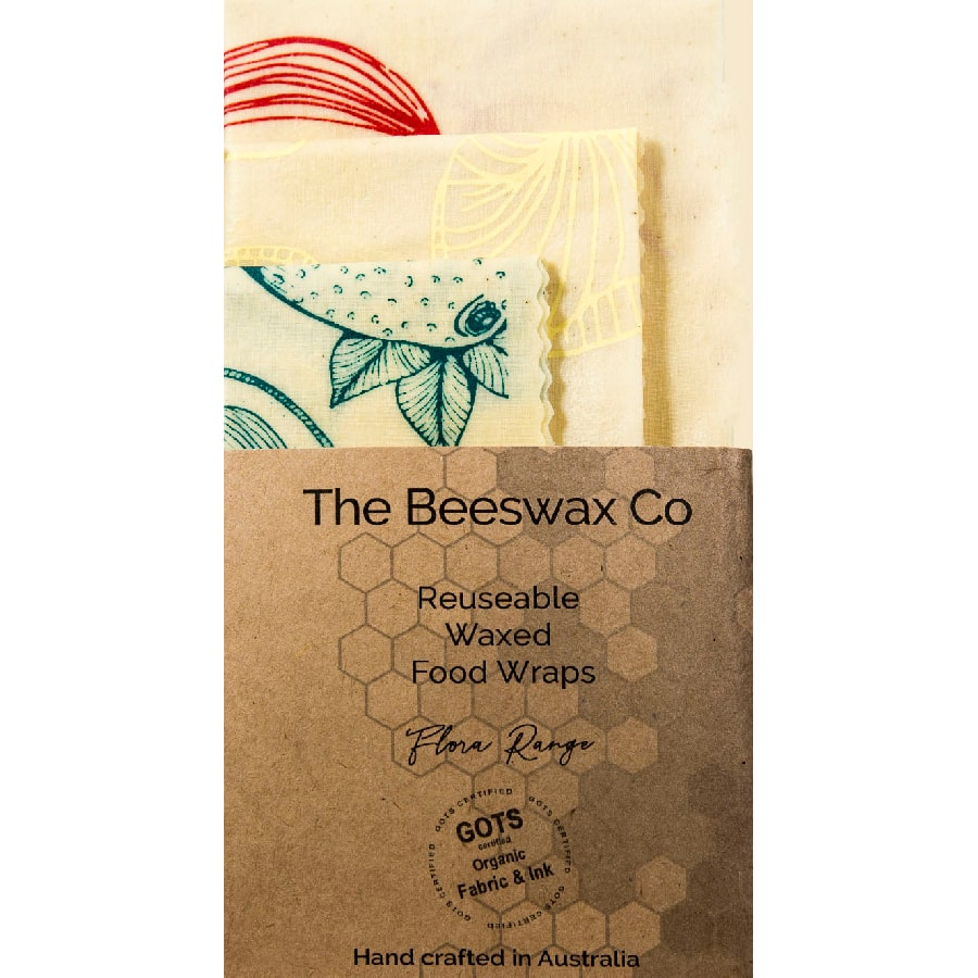 The Beeswax Co Reusable Beeswax Food Wraps - Flora