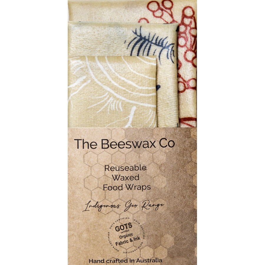 The Beeswax Co Reusable Beeswax Food Wraps - Indigenous Geo