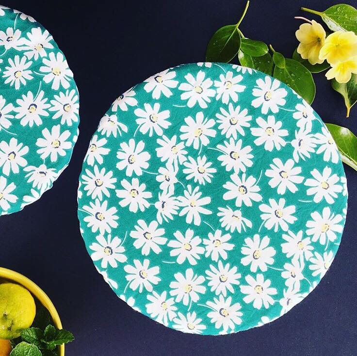 Rinse & Repeat Green Floral Bowl Cover Set