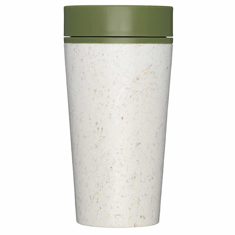 rCup Reusable Coffee Cup - White/Green -12oz