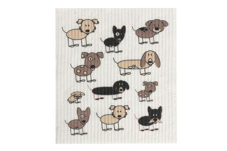 Retro Kitchen Dish Cloth - Dogs