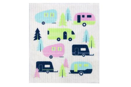 Retro Kitchen Dish Cloth - Caravans