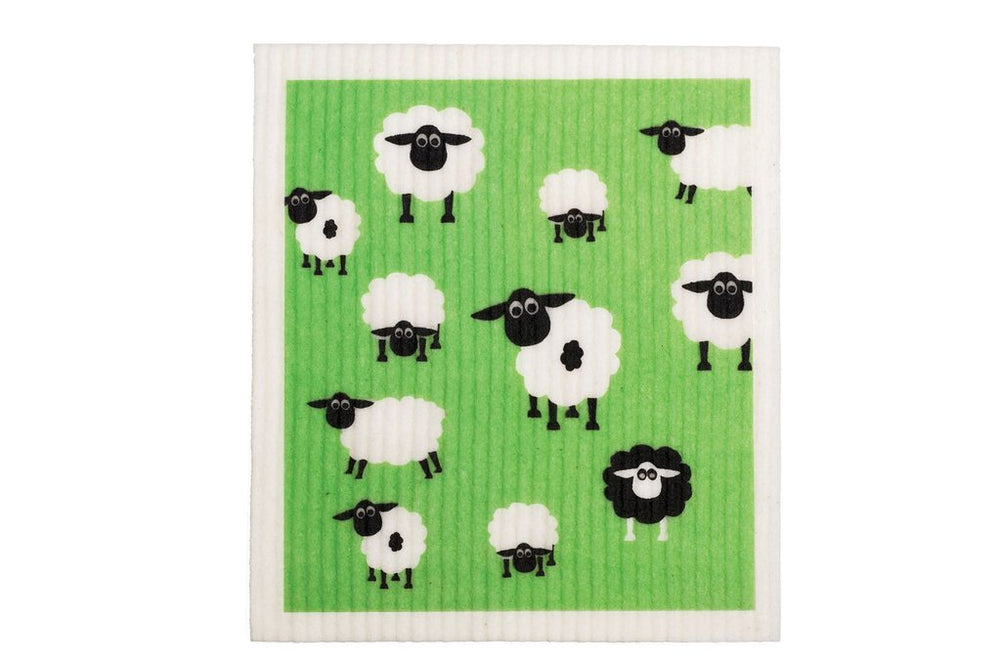 Retro Kitchen Dish Cloth - Sheep