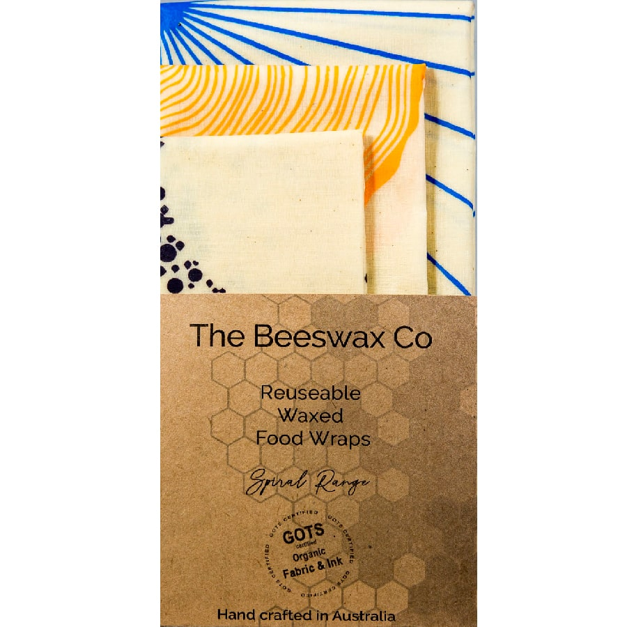 The Beeswax Co Reusable Beeswax Food Wraps - Spiral