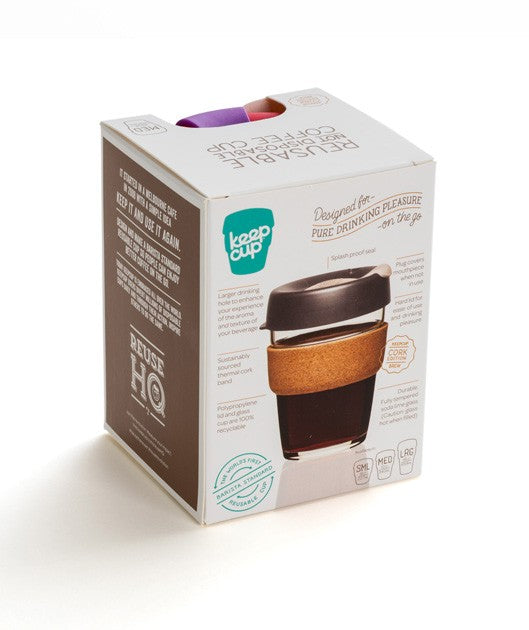KeepCup - 'Brew - Cork Edition' - 8oz -Almond