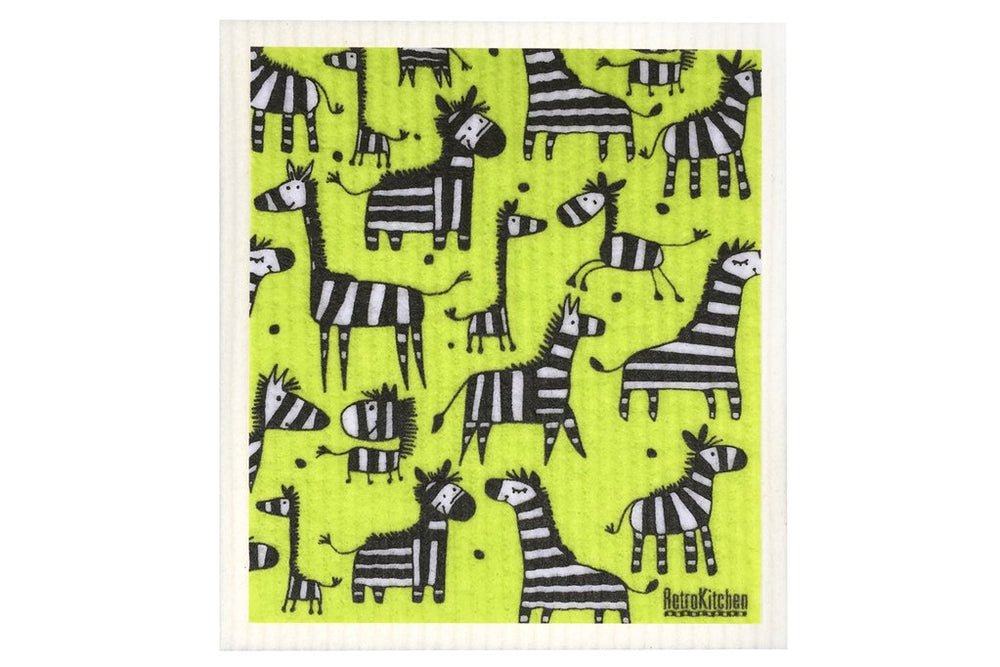 Retro Kitchen Dish Cloth - Zebra