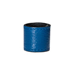 RUNWAY BLUE - Smooth leather ponytail hair tie