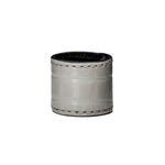 PREMIUM DOVE GRAY -  Soft genuine Leather Pony Cuff with Gator Texture