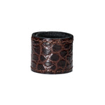 PREMIUM MINI GATOR BROWN -All- Leather Hair Cuff