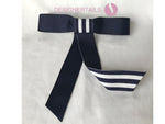 Add-on Navy and White Grosgrain Bow.  Attaches to DesignerTail cuff for a stylish new and fresh look