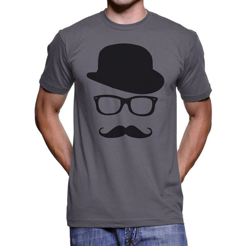 a755954b3 EnjoytheSpirit Mustache Hat T Shirt Funny Novelty Gift Tees for Mens  Graphic Tee Fashion Charcoal Short