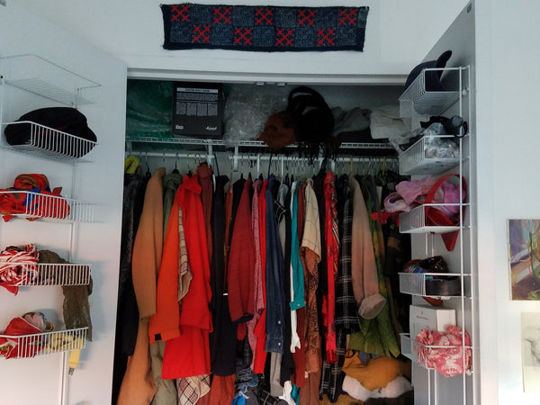 Tess Murdock's colorful closet
