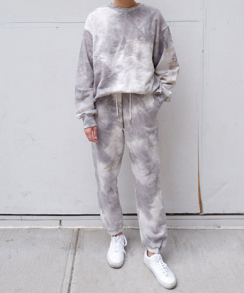 oversized tie dye sweatsuit set | The dallant