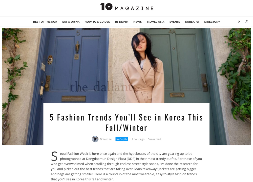 5 Fashion Trends You'll See in Korea This Fall/Winter
