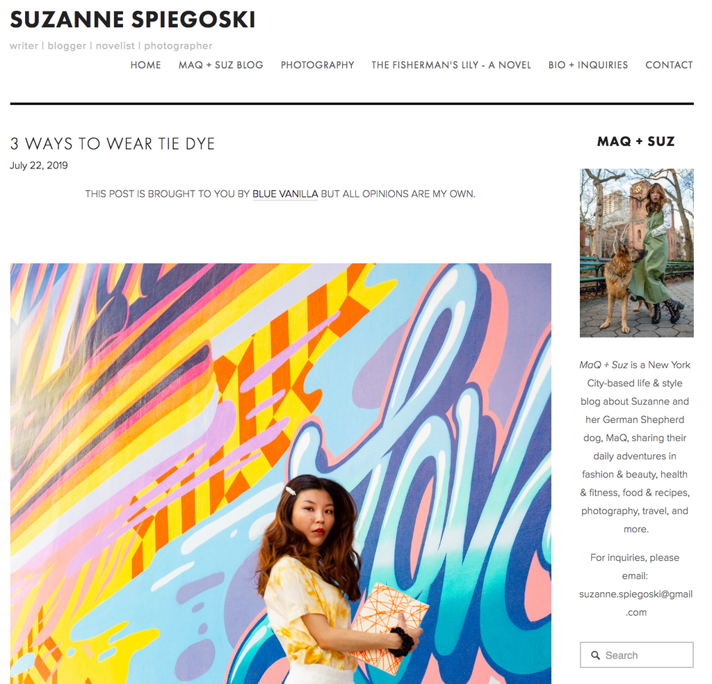 3 ways to wear tie dye by Suzanne Spiegoski | The Dallant blazer