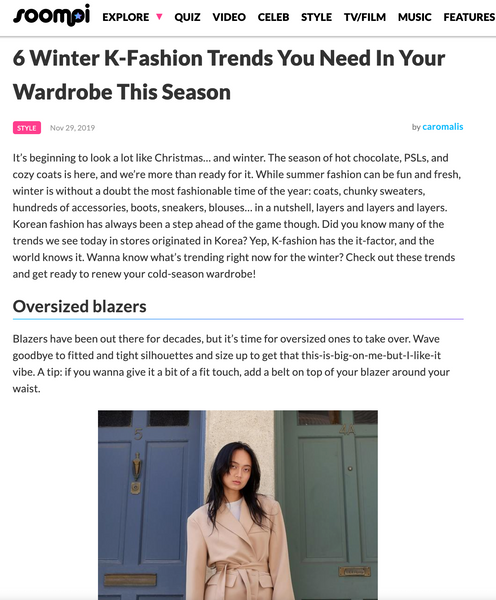 6 Winter K-Fashion Trends You Need In Your Wardrobe This Season | The Dallant