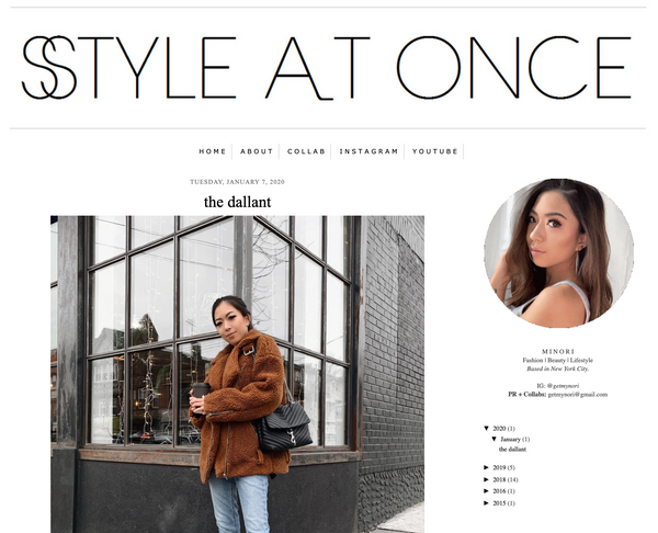 The Dallant korean fashion store feature on style at once by minori kawachi