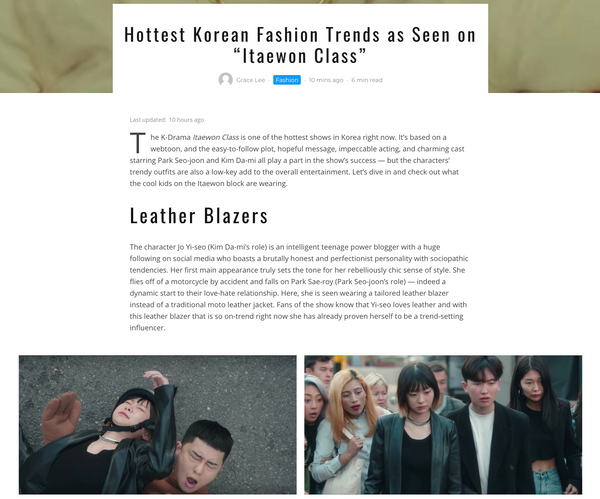 Hottest Korean Fashion Trends as seen on Itaewon Class | The Dallant