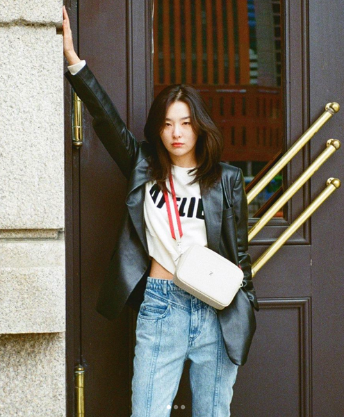 leather blazer | Seulgi | The Dallant