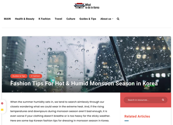 Fashion Tips For Hot & Humid Monsoon Season in Korea | What to do in korea blog | The Dallant