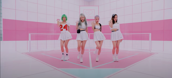 "BLACKPINK wearing tennis skirts in ""Ice Cream"" MV"