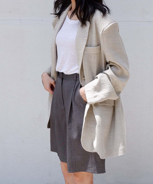 Herringbone Bermuda Shorts Trend from The Dallant