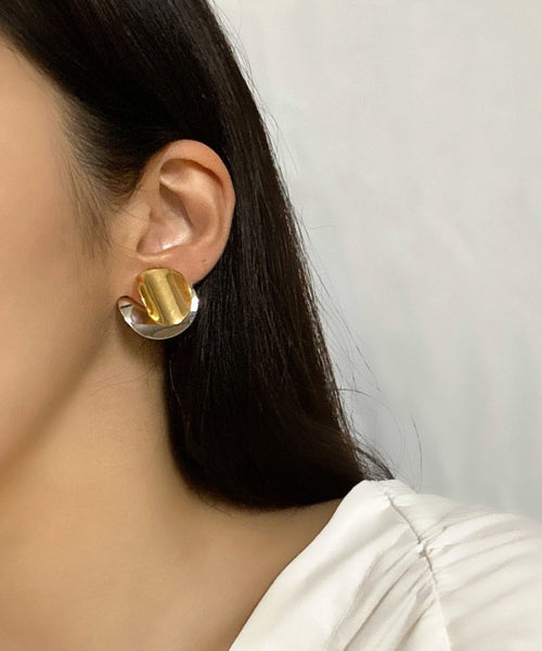 Two-way plates earrings | The Dallant