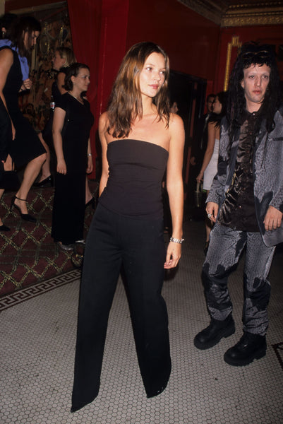 Kate Moss 1998 | wide-leg trousers | 90s fashion trends | The Dallant