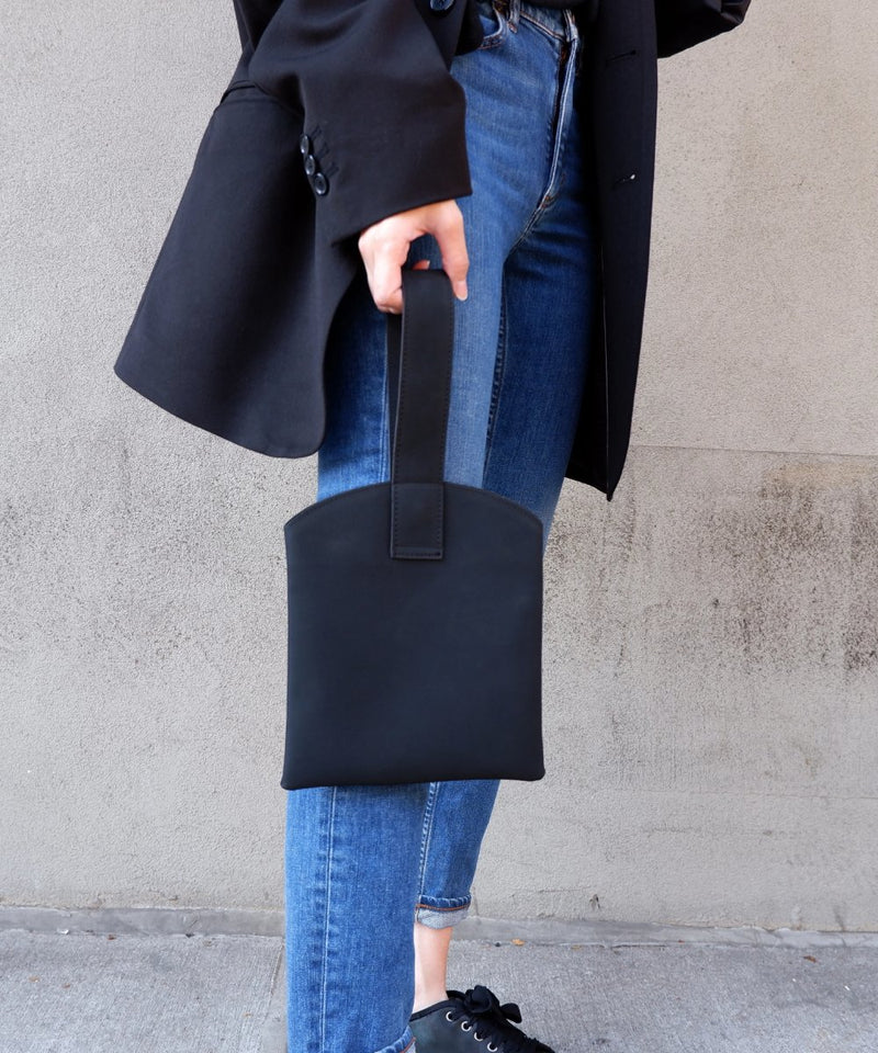 Black Mini Wristlet Hand Tote - The Dallant