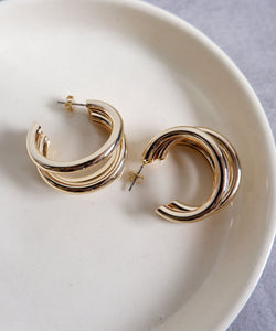 Bold layered hoop earrings