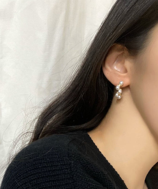 Faux pearl earrings - The Dallant